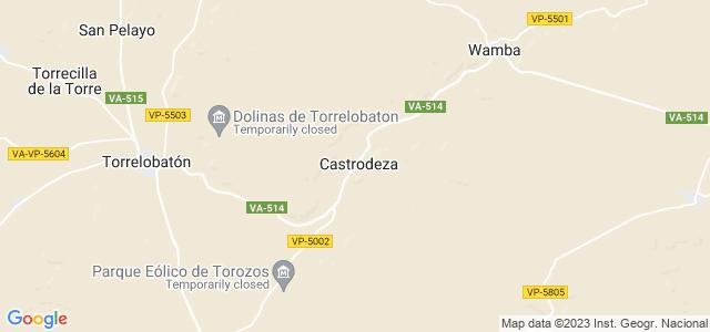 Mapa de Castrodeza