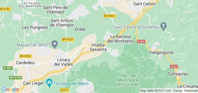 Mapa de Vilalba Sasserra