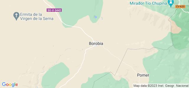 Mapa de Borobia