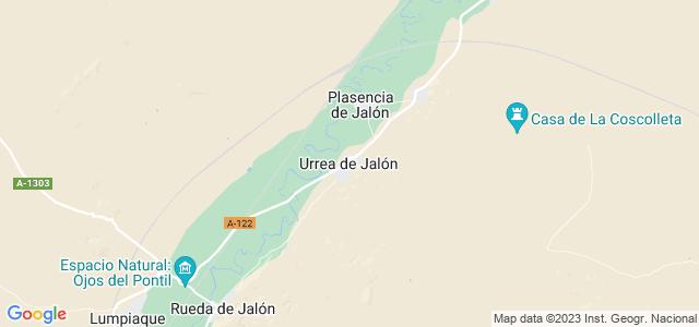 Mapa de Urrea de Jalón