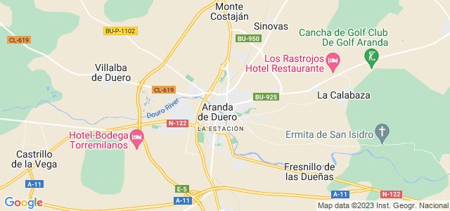 Mapa de Aranda de Duero