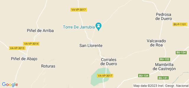 Mapa de San Llorente
