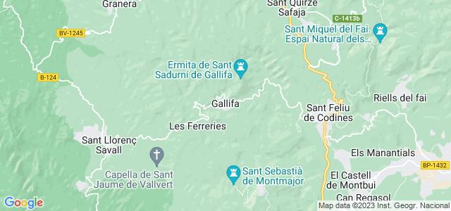 Mapa de Gallifa