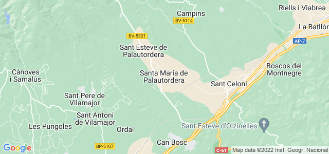 Mapa de Santa Maria de Palautordera
