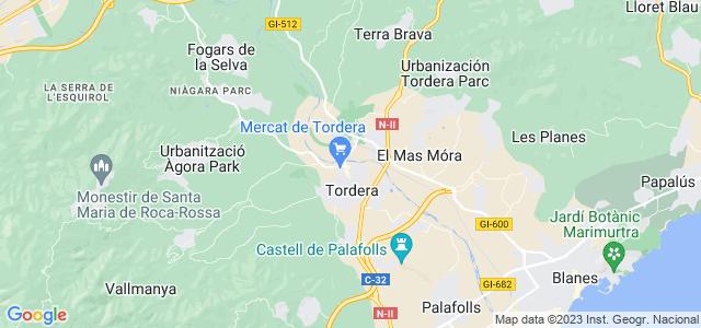 Mapa de Tordera