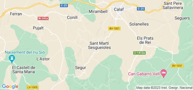 Mapa de Sant Martí Sesgueioles