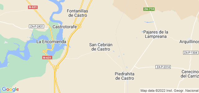 Mapa de San Cebrián de Castro