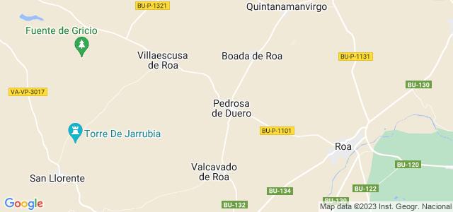 Mapa de Pedrosa de Duero
