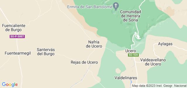 Mapa de Nafría de Ucero