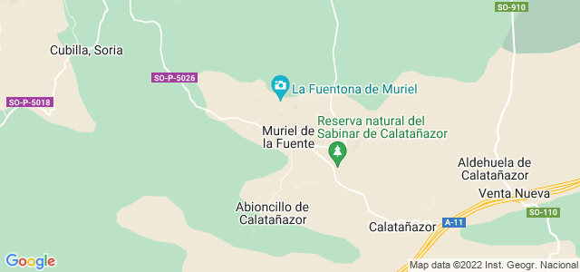 Mapa de Muriel de la Fuente
