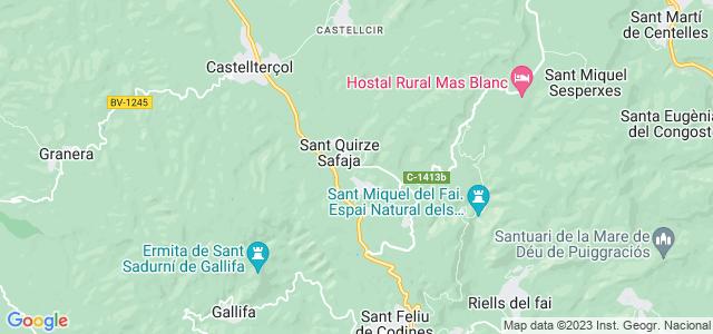 Mapa de Sant Quirze Safaja