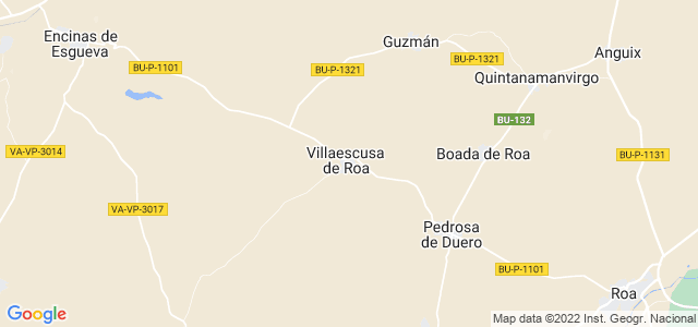 Mapa de Villaescusa de Roa