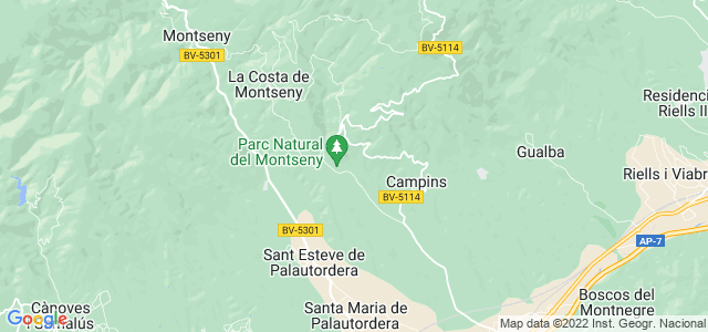 Mapa de Fogars de Montclús