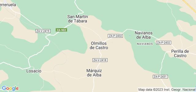 Mapa de Olmillos de Castro
