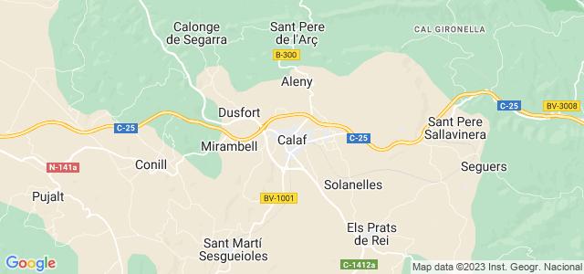 Mapa de Calaf