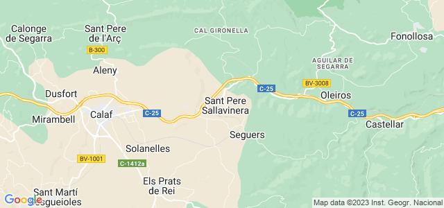 Mapa de Sant Pere Sallavinera