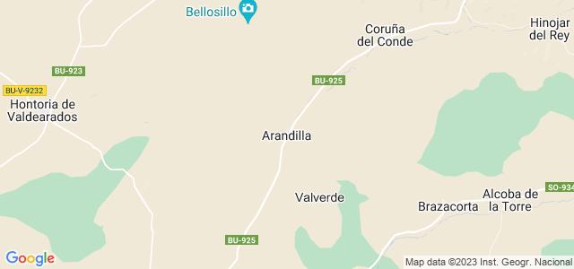 Mapa de Arandilla