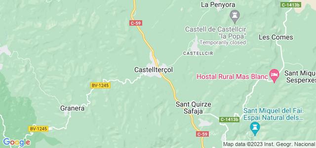 Mapa de Castellterçol