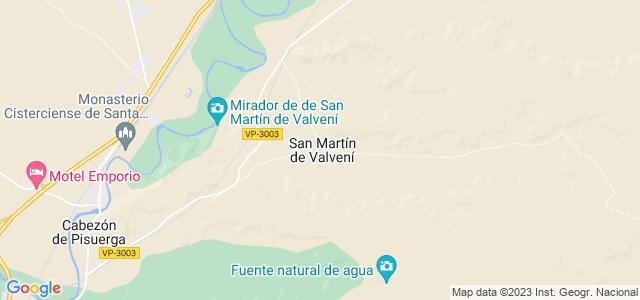 Mapa de San Martín de Valvení
