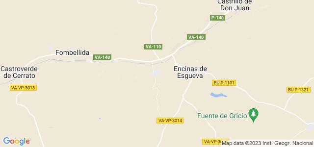 Mapa de Canillas de Esgueva