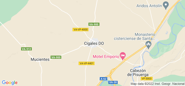Mapa de Cigales