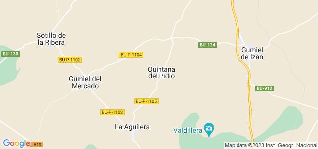 Mapa de Quintana del Pidio