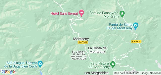 Mapa de Montseny