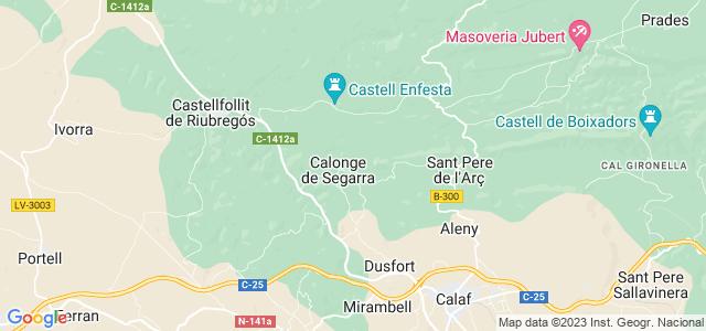 Mapa de Calonge de Segarra