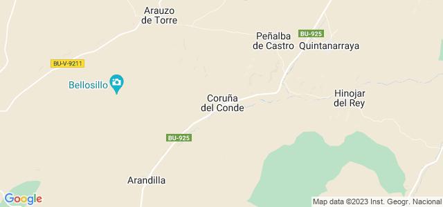 Mapa de Coruña del Conde