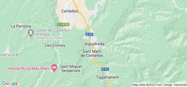 Mapa de Aiguafreda