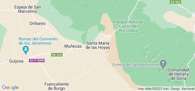Mapa de Santa María de las Hoyas