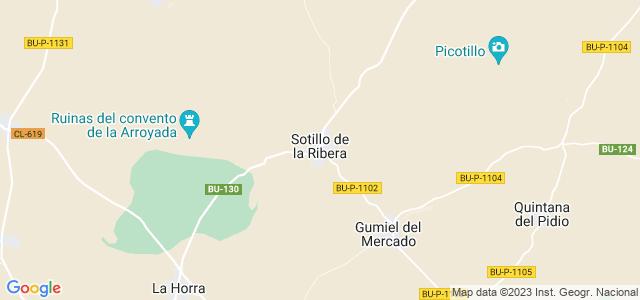 Mapa de Sotillo de la Ribera