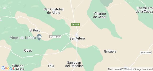 Mapa de San Vitero