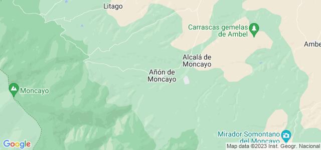 Mapa de Añón de Moncayo