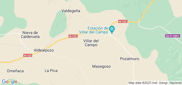 Mapa de Villar del Campo
