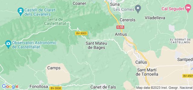 Mapa de Sant Mateu de Bages