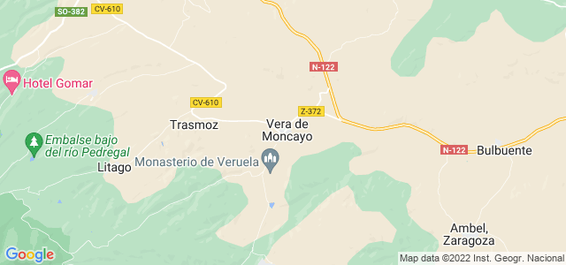 Mapa de Vera de Moncayo
