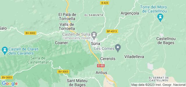 Mapa de Súria