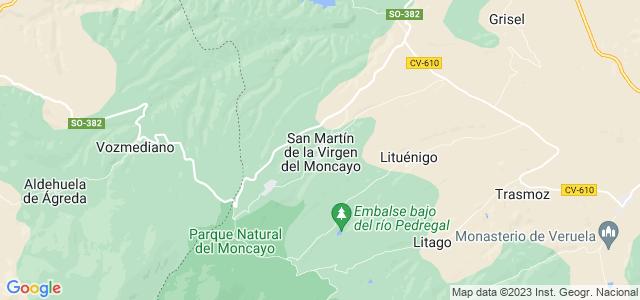 Mapa de San Martín de la Virgen de Moncayo