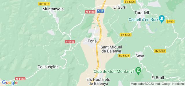 Mapa de Tona