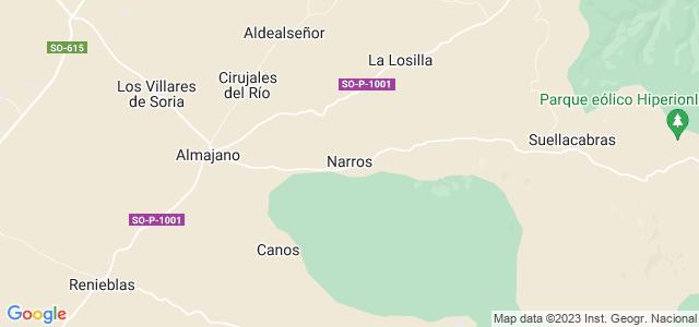 Mapa de Narros