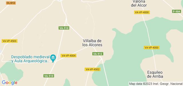 Mapa de Villalba de los Alcores
