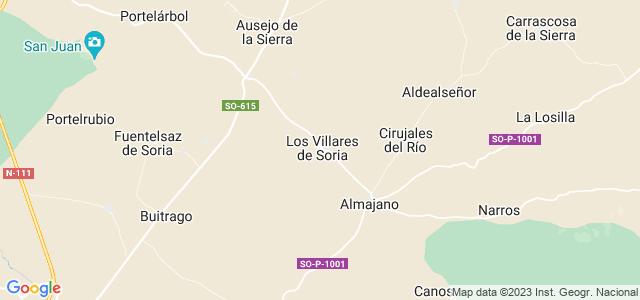 Mapa de Villares de Soria
