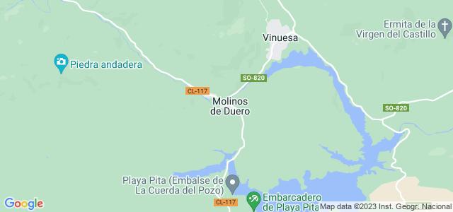 Mapa de Molinos de Duero