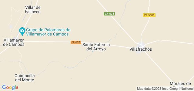 Mapa de Santa Eufemia del Arroyo