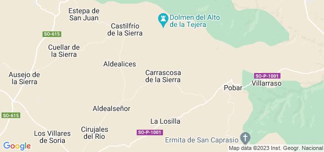 Mapa de Carrascosa de la Sierra