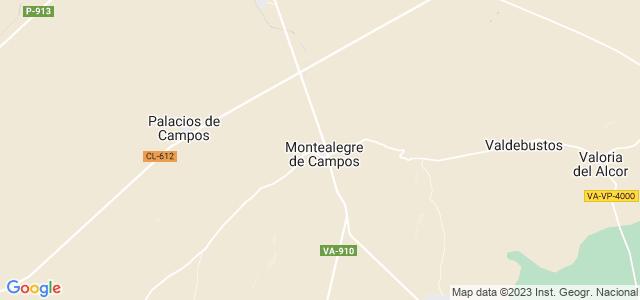 Mapa de Montealegre de Campos