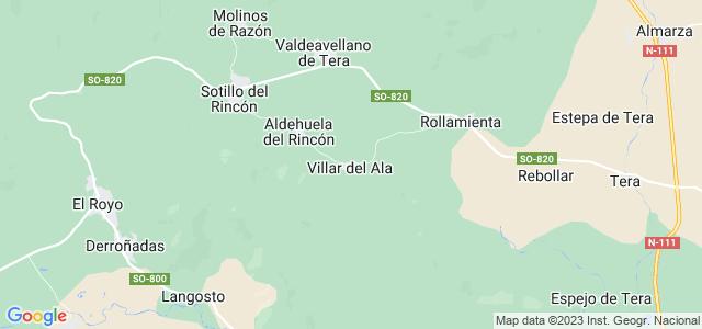 Mapa de Villar del Ala