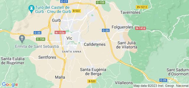 Mapa de Calldetenes