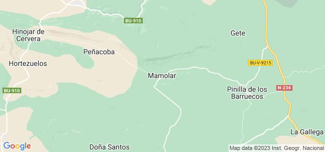 Mapa de Mamolar